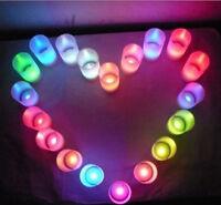 Flameless Flickering Multicolor LED Candle Tea Light Lamp Wedding Party Decor UK