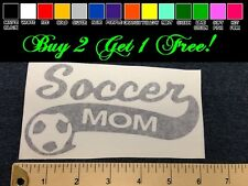 "Soccer Mom 7"" Vinyl Sticker Decal - Choose Color! bumper car window team ball"