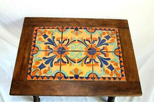 Vintage Catalina Monterey California 6 Tile Top Table Mission