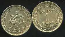 FRANCE  FRANCIA  1 franc 1923   CHAMBRE DE COMMERCE   SUP  ( bis )