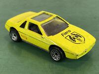 1984 HOT WHEELS-1/64 Yellow Diecast-Pontiac Fiero w/Phoenix on Hood-China VG 029