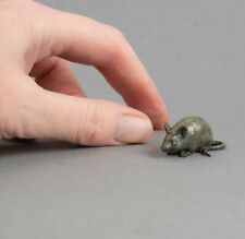Tiny Vintage Cold Painted Bronze Miniature Mouse Figure Signed Mice/Rodent/Rat