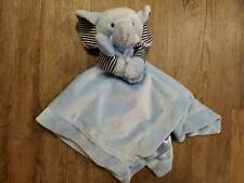 New listing Carters Baby Blue Elephant Lovey Rattle Security Blanket Stripe Navy Plush Satin