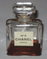Vintage Perfume Bottle Chanel No 5 Bottle 1/2 OZ -  Open - 1/3 Full  - 2 1/2""