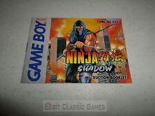 (MANUAL ONLY!!!) Ninja Gaiden Shadow - Nintendo Gameboy 29ngs