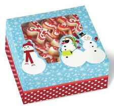 3 Candy Cookie Sweets Gift Boxes Snowman Holiday Winter 3 x 6 1/4 Snowmen 1lb