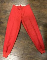 Vintage Woolrich  Red HUNTING Wool Slacks 34x30