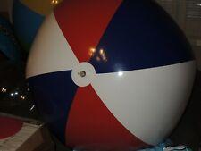 Rot Blau Weißen Wasserball inflatable Pool Toy 120cm Flach Super weiches Vinyl