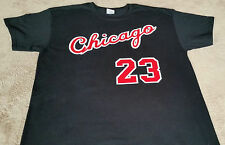 d2822e8412647b Chicago Bulls Michael Jordan Rookie year vtg style Jersey T-shirt Black or  Red.