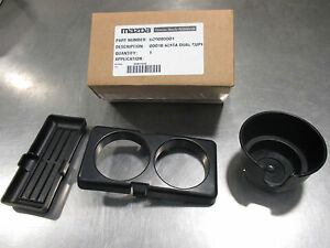 1990-1997 New OEM Mazda MX-5 Miata black cup holder ash tray 0000-8D-D01