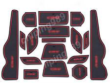 17PCS Non-Slip Interior Door Mat Cup Pads Holder For Honda CRV CR-V 2015