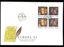 Sweden 1995 Europa, Peace And Freedom Booklet Pane FDC #C8552