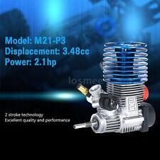 SH M21-P3 3.48cc 2-stroke Pull Start Engine for 1/8 Nitro Powered Buggy Car N4X7
