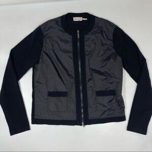 Moncler Coreana Tricot Full Zip Sweater Jacket Black Medium M Wool Pockets