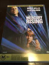 MERCURY RISING Collector's Edit. Bruce Willis Alec Baldwin New Unsealed DVD R4