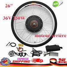 """Nuovo 26"""" E-bike ruota POSTERIORE Kit di conversione bici elettrica 36V 250W DHL"""