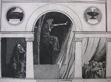 MAXIMILIAN DASIO ´PYTHIA, PRIESTERIN DES APOLLON IN DELPHI´ RADIERUNG 1901
