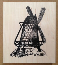 Wood Mounted Rubber Stamps, Holland, Dutch, Windmill, Windmills, Scenic Stamps