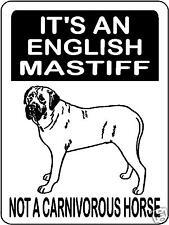 English Mastiff Guard Dog Alum. Sign Decal 3173