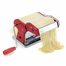 NORPRO 1049R Deluxe Pasta Machine Noodle Maker Includes Countertop Clamp, Red