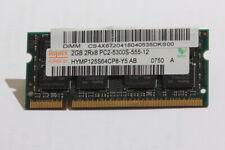 Hynix 2GB DDR2 667MHz PC2-5300S-555-12 Notebook Speicher RAM HYMP125S64CP8-Y5 AB