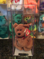Authenticated MWMT-MQ Rare New Face Brown Teddy 3rd/2nd Gen Tags Ty Beanie Baby