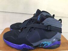 Nike Air Jordan 8.0 Aqua Black Purple 467807-009 Men's Basketball Shoes Sz 11.5