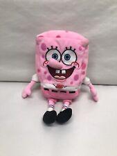 "TY BEANIE Spongebob PinkPants Breast Cancer Pink Edition Rare 8"""