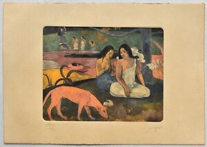 PAUL GAUGUIN Etching signed by hand