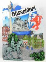 Düsseldorf Germany Poly Magnet Relief Souvenir Deutschlamd,Neu