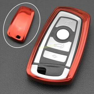 TPU Key Fob Cover Case Holder For BMW 1 2 3 4 5 6 7 Series X3 X4 Accessories Red