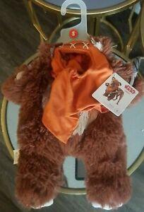 Petco Star Wars EWOK Dog Illusion Costume Small w/Ear Hood NEW,FitsFrontLeg/Neck