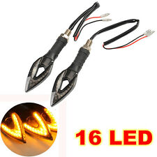 2X Universal Amber Motorcycle Moto 16 LED Turn Signal Indicator Lights Lamp
