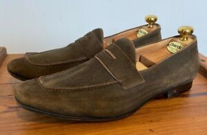 GORGEOUS PAUL SMIH HAND BLEACHED BROWN SUEDE LOAFERS SHOES UK 9.5 9 1/2