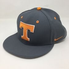 NIKE TRUE Sz 7 3/8 Tennessee Volunteers Gray T DriFit Baseball Hat Fitted 2A