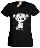 Zombie Girl Ladies T-Shirt goth rock burton halloween spooky undead womens top