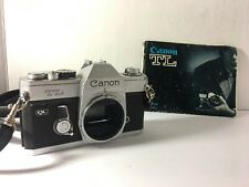 Canon Tl Ql 35mm Slr Film Camera Body Only W/ Original Manual - *Not Tested*