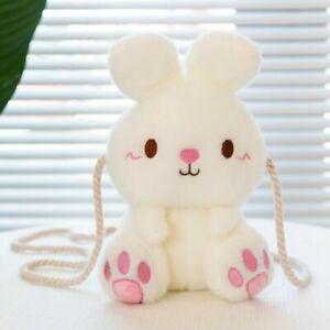 Bunny Satchel Shoulder Bag Fluffy Handbag Kawaii Cute Cartoon Kid Girl Gift Chic