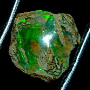 1.75 Ct Natural Ethiopian Fire Opal Play Of Color Certified Earth-Mined Rough