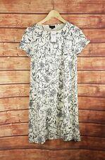 New J Jill Beige Swing Over Black Crown Flower Dress - All Sizes
