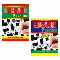 2 X Large Crossword Puzzle Books Book 325 Puzzles A4 Pages Trivia Fun FREE PP
