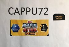 TOPPS MATCH ATTAX EXTRA -SQUAD UPDATE-CHAMPIONS LEAGUE- 2019/20