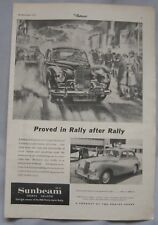 1955 Sunbeam Sports Saloon MkIII Original advert No.2