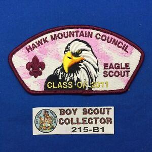 Boy Scout CSP 2011 Eagle Scout Hawk Mountain Council Shoulder Patch Maroon