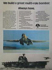 12/1980 PUB ROCKWELL INTERNATIONAL B-25 MITCHELL USS HORNET TOKYO B-1 BOMBER AD