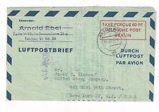 1951 Berlin Germany 60pf Aerogram Air Letter Sheet, Airmail to New York H&G #2b