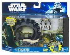 General Grievous and Attack Cycle - Class I Fleet Vehicle - Star Wars Clone Wars