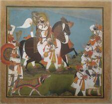 Maharana Bhim Singh & Retinue on Hunt Sikh Art 8x8 Inch Print