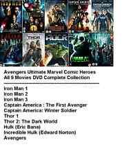 AVENGERS ULTIMATE MARVEL SUPERHEROS ALL 10 MOVIE FILM DVD Complete Collection UK