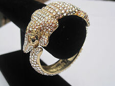 Fun and Beautiful Rhinestone-Studded Estate Alligator Bracelet